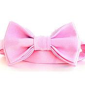 Бабочки ручной работы. Ярмарка Мастеров - ручная работа Галстук-бабочка нежно розовая. Handmade.