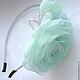 Rim with flowers from tissue ' aquamarine'. Headband. cbzybt. Online shopping on My Livemaster.  Фото №2