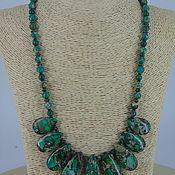 Украшения handmade. Livemaster - original item Necklace made of natural stones Jasper variscite and anormality. Handmade.