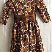 """Работы для детей, ручной работы. Ярмарка Мастеров - ручная работа Платье для девочки """"Осень"""". Handmade."""
