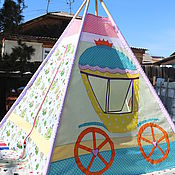 "Для дома и интерьера handmade. Livemaster - original item Wigwam for children ""The frog Princess"". Handmade."