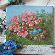 """Картины и панно ручной работы. Ярмарка Мастеров - ручная работа картина """"гнездышко"""". Handmade."""