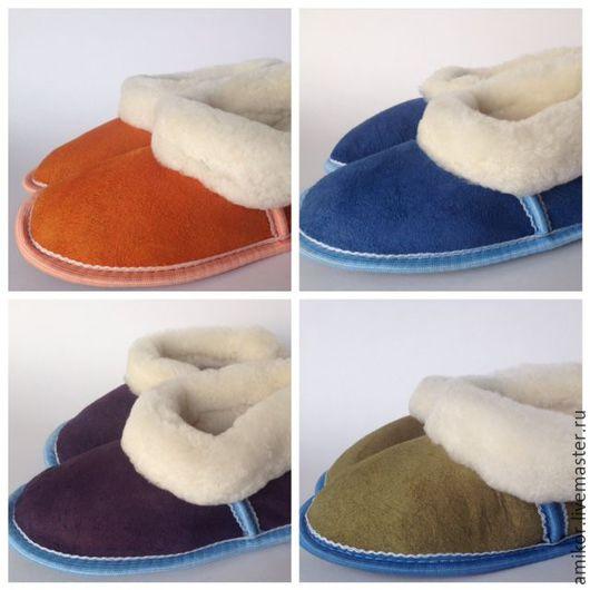 Обувь ручной работы. Ярмарка Мастеров - ручная работа. Купить Чуни из овчины подростковые р. р. 30-35. Handmade.