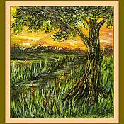 Картины и панно ручной работы. Ярмарка Мастеров - ручная работа Дерево на закате. Handmade.
