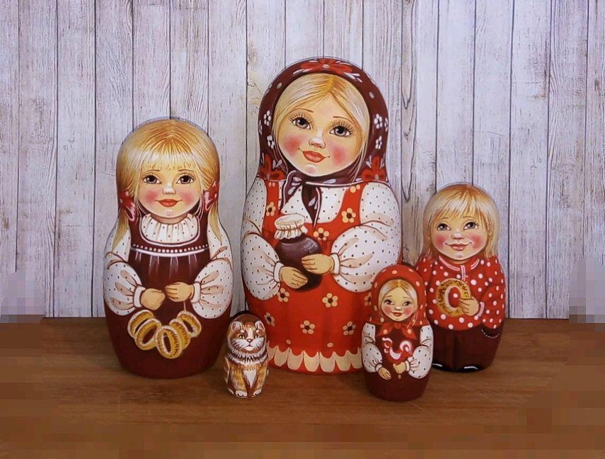 Матрёшка 5 кукольная, Матрешки, Омск, Фото №1