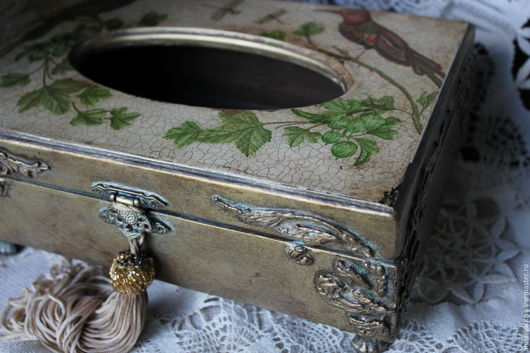 """Кухня ручной работы. Ярмарка Мастеров - ручная работа. Купить Салфетница  """"Волшебные птицы"""". Handmade. Салфетница, салфетница для кухни, дерево"""