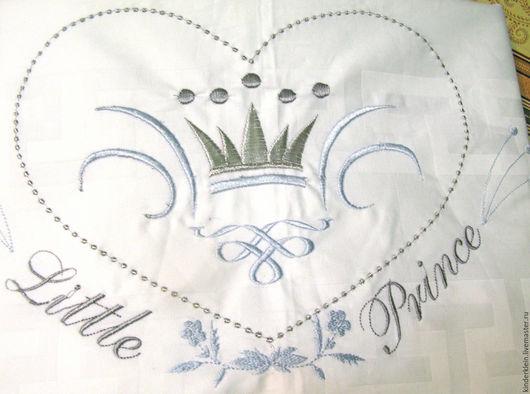 """Для новорожденных, ручной работы. Ярмарка Мастеров - ручная работа. Купить Комплект белья """"Маленький принц""""-3 предмета. Handmade."""