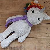 Куклы и игрушки handmade. Livemaster - original item Knitted unicorn of plush yarn. Handmade.