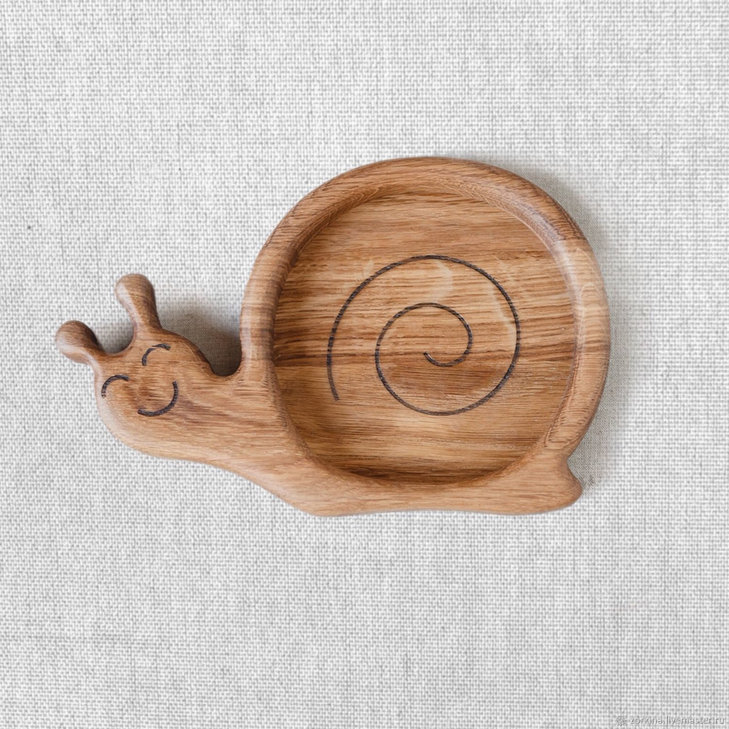 Children's wooden plate Snail, Plates, Moscow,  Фото №1