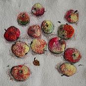 Картины и панно ручной работы. Ярмарка Мастеров - ручная работа Яблочки, войлок, панно. Handmade.