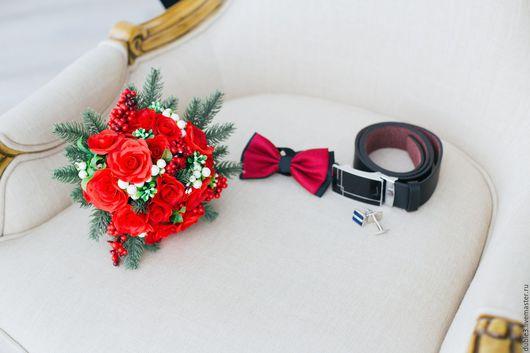 Свадебные цветы ручной работы. Ярмарка Мастеров - ручная работа. Купить Букет невесты из полимерной глины  Зима. Handmade. жених