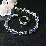 Украшения handmade. Livemaster - original item bracelet Cornflowers. Handmade.