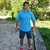 Одежда ручной работы. Ярмарка Мастеров - ручная работа Мужская рубашка Пловчихи Хлопок 100%. Handmade.
