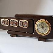 Для дома и интерьера handmade. Livemaster - original item Meteo 1 lamp clock (ash, oak color) box. Handmade.