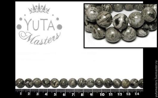 Индийская яшма бусины из камня Л1-770 10 мм - 3,50 грн / шт