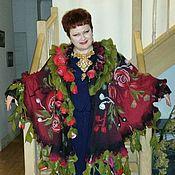 """Одежда ручной работы. Ярмарка Мастеров - ручная работа Пончо """"Много роз для женщин не бывает"""". Handmade."""