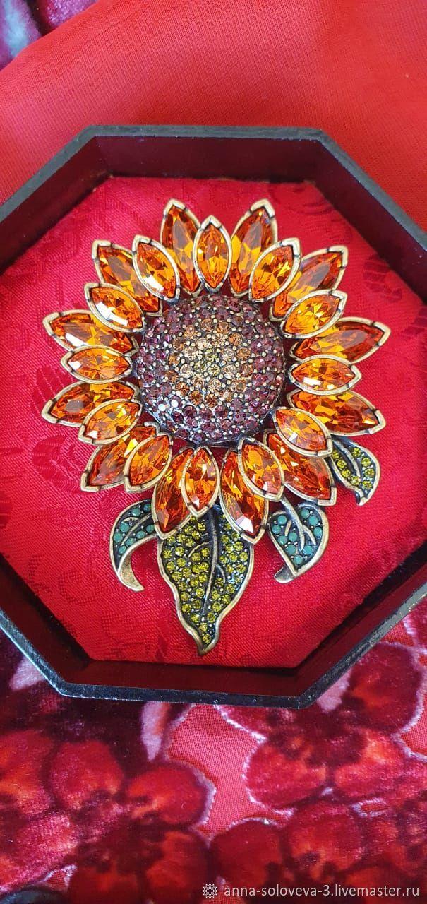 Brooch 'Sunflower' Heidi Daus (Heidi DOS), Vintage brooches, Moscow,  Фото №1