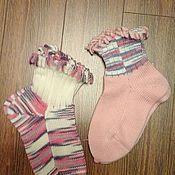 Носки ручной работы. Ярмарка Мастеров - ручная работа Носки с бахромой женские. Handmade.