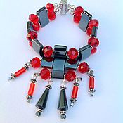 Украшения handmade. Livemaster - original item A set of hematite and crystal in Oriental style Paso Doble.. Handmade.