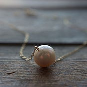 Украшения handmade. Livemaster - original item Large pearl on a gold chain. Handmade.