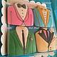 """Кулинарные сувениры ручной работы. Набор пряников """"Идеальный костюм для любимого"""". Имбирные ПРЯНИ BeautyFood cookies. Интернет-магазин Ярмарка Мастеров."""