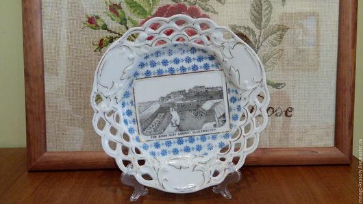 Винтажная посуда. Ярмарка Мастеров - ручная работа. Купить Тарелка Богемия. Handmade. Bohemia, тарелка на стену, винтаж