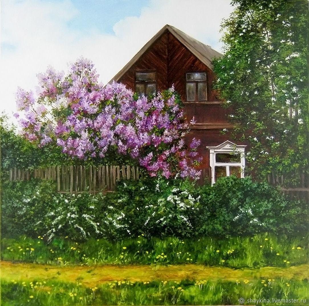 процессе занятия деревенский пейзаж с цветущими садами фото некоторых авто его