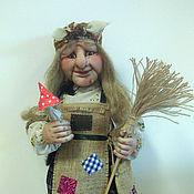 Куклы и игрушки ручной работы. Ярмарка Мастеров - ручная работа Кукла Баба Яга с мухомором. Handmade.