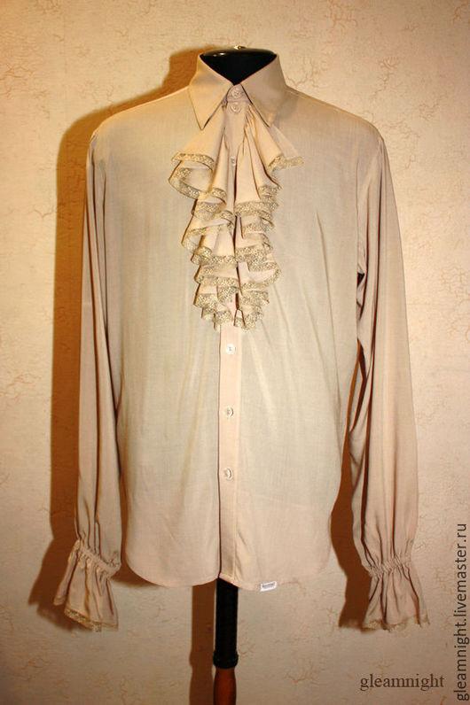 Свадебная рубашка с жабо для жениха
