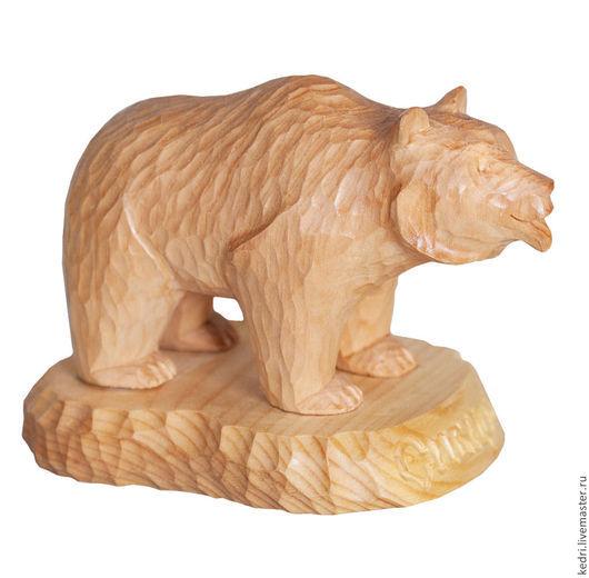 Подарки для мужчин, ручной работы. Ярмарка Мастеров - ручная работа. Купить Статуэтка из кедра Медведь. Handmade. Желтый, Сибирский кедр