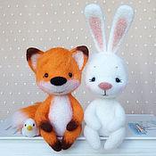 Куклы и игрушки ручной работы. Ярмарка Мастеров - ручная работа Зверики на полочку. Handmade.