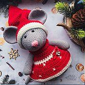 Мягкие игрушки ручной работы. Ярмарка Мастеров - ручная работа Вязаная мышка. Handmade.