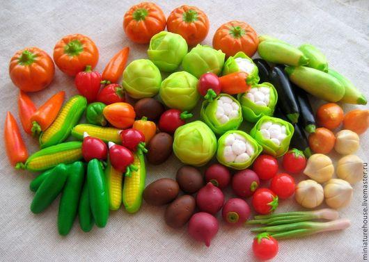 Развивающие игрушки ручной работы. Ярмарка Мастеров - ручная работа. Купить Набор овощей для детской игры. Handmade. Разноцветный
