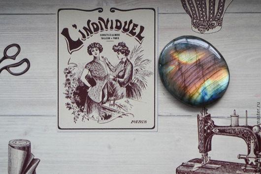 Для украшений ручной работы. Ярмарка Мастеров - ручная работа. Купить Лабрадор спектролит овал  49 X 40 X 7. Handmade.