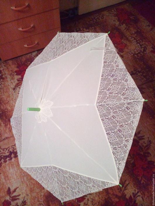 Зонты ручной работы. Ярмарка Мастеров - ручная работа. Купить Зонт от солнца Ажур. Handmade. Однотонный, кружевное полотно
