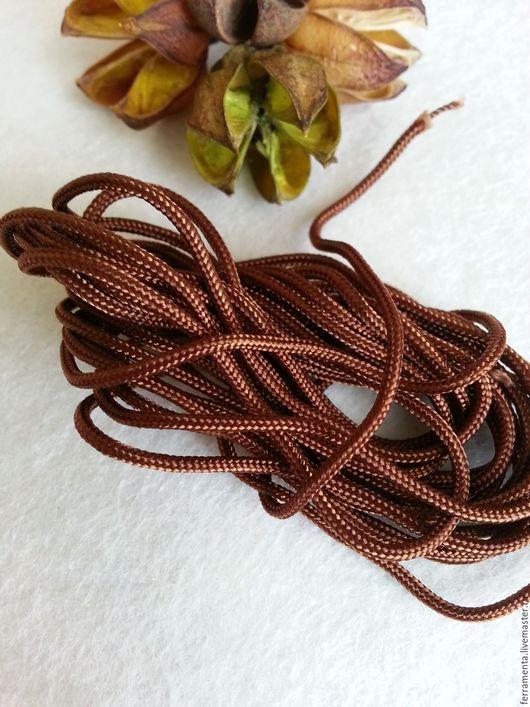 Для украшений ручной работы. Ярмарка Мастеров - ручная работа. Купить Шнур вощеный коричневый. Handmade. Черный, шнур