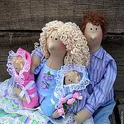 Куклы и игрушки ручной работы. Ярмарка Мастеров - ручная работа Тильда семья. Handmade.