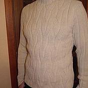 """Одежда ручной работы. Ярмарка Мастеров - ручная работа Вязанный мужской свитер """"диагональ"""". Handmade."""
