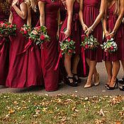 Свадебный салон ручной работы. Ярмарка Мастеров - ручная работа Платья для подружек невесты бордо марсала. Handmade.