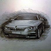 Картины и панно ручной работы. Ярмарка Мастеров - ручная работа Рисунок Вашей машины по фотографии. Handmade.