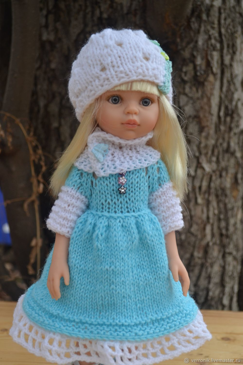 Dress, hat, Snood and leggings for Paola Reina doll, Clothes for dolls, Samara,  Фото №1