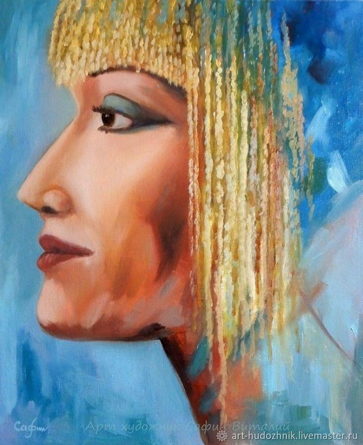 Картина портрет маслом Египетская сила, Картины, Санкт-Петербург,  Фото №1