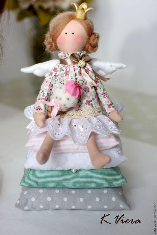 Принцесса на горошине, Куклы Тильда ручной работы,куклы игрушки, подарок на крестины,тильда, тильда ангел, ангел, K.Viera, Ярмарка Мастеров.