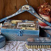"""Для дома и интерьера ручной работы. Ярмарка Мастеров - ручная работа """"Ретро авто"""" набор для подарка мужчине. Handmade."""