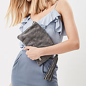 Сумки и аксессуары handmade. Livemaster - original item Clutch Bag with shoulder strap pocket and tassel. Handmade.