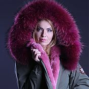 Одежда handmade. Livemaster - original item Parka with a fur liner. Handmade.