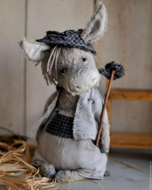 Мишки Тедди ручной работы. Ярмарка Мастеров - ручная работа. Купить Willy. Handmade. Серый, путешественнику, коллекционная игрушка