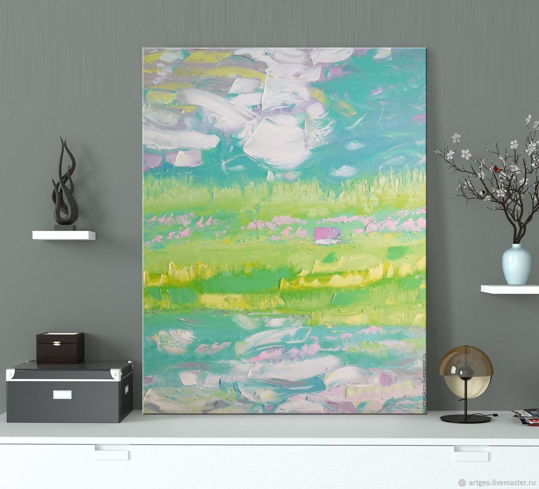 """Winds of May"" 70х90 см картина маслом мастихином пейзаж, Картины, Санкт-Петербург,  Фото №1"