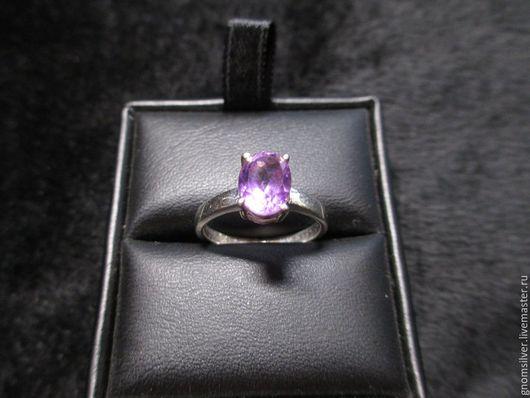 Кольца ручной работы. Ярмарка Мастеров - ручная работа. Купить Авторское кольцо с фиолетовым аметистом из Бразилии. Handmade. Фиолетовый
