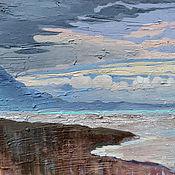 Картины и панно handmade. Livemaster - original item Oil painting. Sea shore. Handmade.